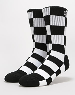 Obey Checkers Socks - Black Multi