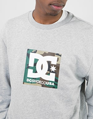 DC Camo Boxing Crew - Grey Heather