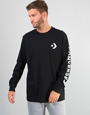 Converse Star Chevron Wordmark L/S T-Shirt - Black