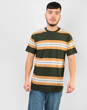 RVCA Oxnard Stripe T-Shirt - Dark Military