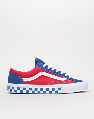 Vans Style 36 Skate Shoes - (BMX Checkerboard) True Blue/Red