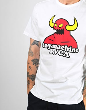 RVCA x Toy Machine Logo T-Shirt - White