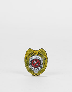Powell Peralta Skateboard Police Lapel Pin - Multi