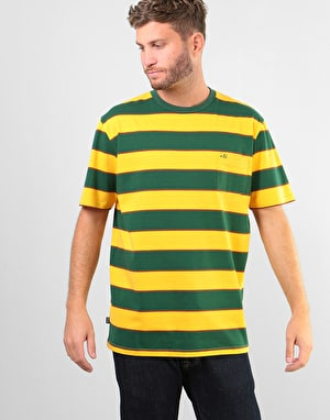 Enjoi Slappy T-Shirt - Fade Gold/Green/Brown Stripe
