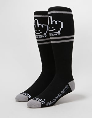 Stinky x YoBeat Magazine Snowboard Socks - Black/Grey