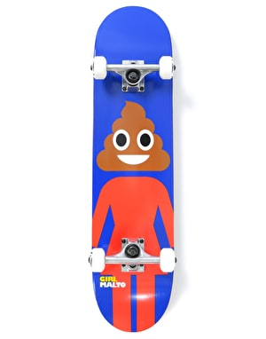 Girl Malto Poop Head Complete Skateboard - 7.625