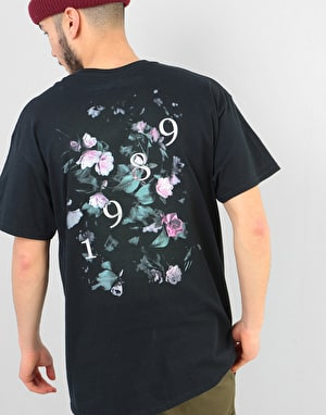 Route One Peonies II T-Shirt - Black