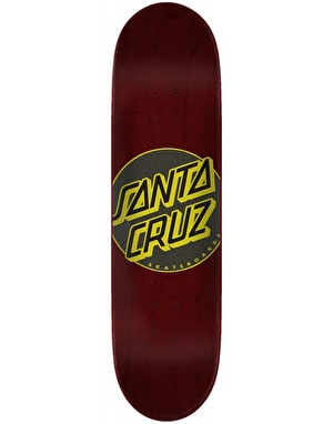 Santa Cruz Classic Dot Taper Tip Skateboard Deck - 8.375