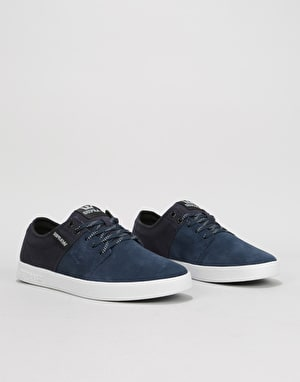 Supra Stacks II Skate Shoes - Navy/White/White