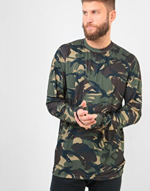 Burton Midweight Crew Thermal Top - Seersucker Camo