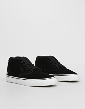 Emerica Wino G6 Mid Skate Shoes - Black/White/Gold