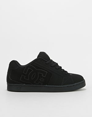 DC Net Skate Shoes - Black/Black/Black