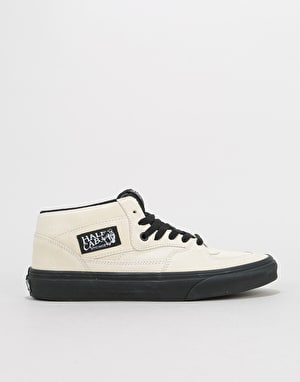 Vans Half Cab Skate Shoes - (Black Outsole) Classic White/Black