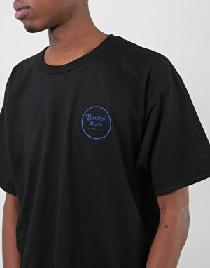 Brixton Wheeler II T-Shirt - Black/Royal
