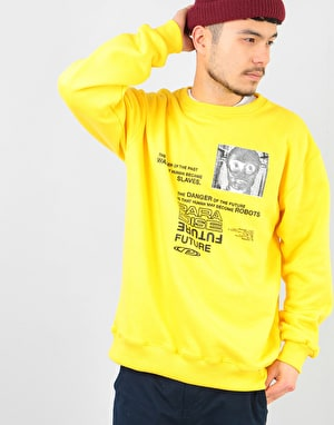 Paradise Youth Club Robot Slaves Sweatshirt - Yellow