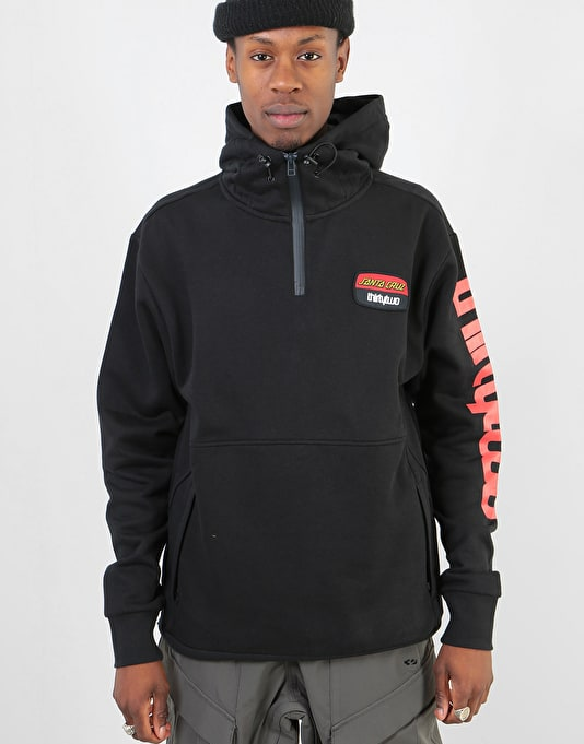 ThirtyTwo x Santa Cruz Stamped Pullover Hoodie - Black