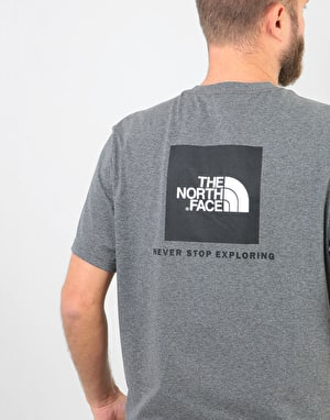 The North Face S/S Red Box T-Shirt - TNF Medium Grey Heather