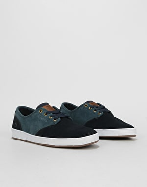 Emerica The Romero Laced Skate Shoes - Navy/Blue/Gold