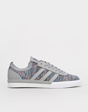 Adidas Lucas Premiere PK Skate Shoes - Light Granite/Chalk Coral/White