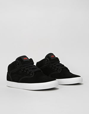 Globe Motley Mid Skate Shoes - Black Suede/White
