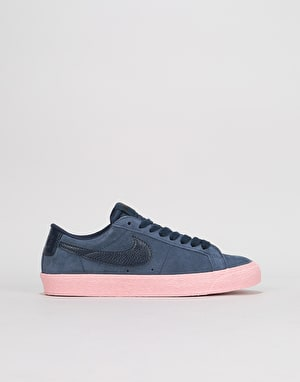 Nike SB Zoom Blazer Low Womens Trainers - Obsidian/Obsidian/Bubblegum