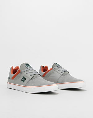 DC Heathrow Vulc Skate Shoes - Grey/Green/Grey
