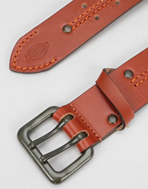 Dickies Bluefield Leather Belt - Brown