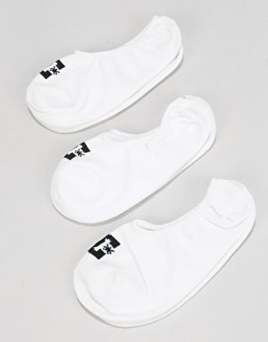 DC Liner Socks 3 Pack - White