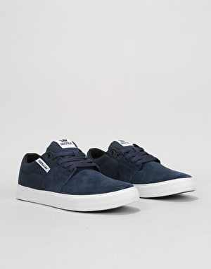Supra Stacks Vulc II Skate Shoes - Navy/White/White