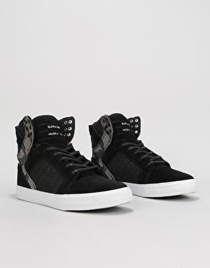 Supra Skytop Skate Shoes - Black/Camo/White