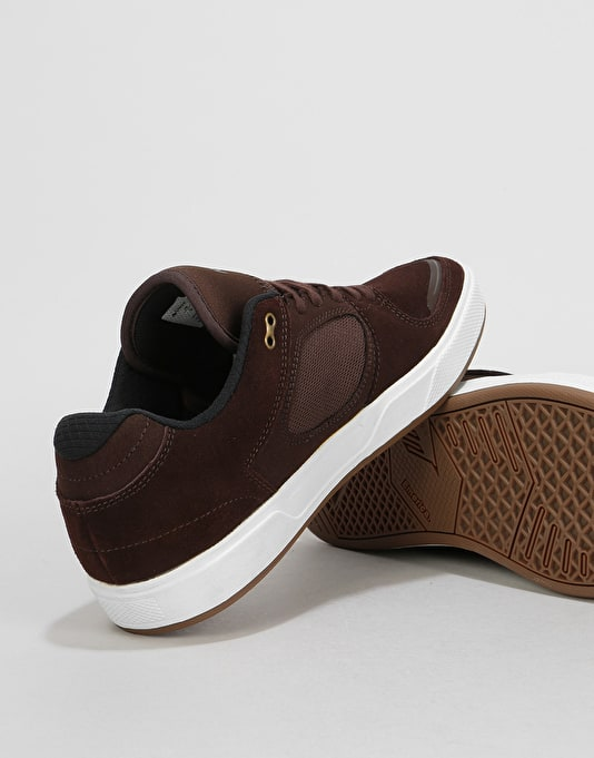 Emerica Reynolds G6 Skate Shoes - Brown/White