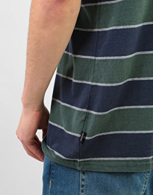 Brixton Hilt Washed Pocket T-Shirt - Pine/Navy
