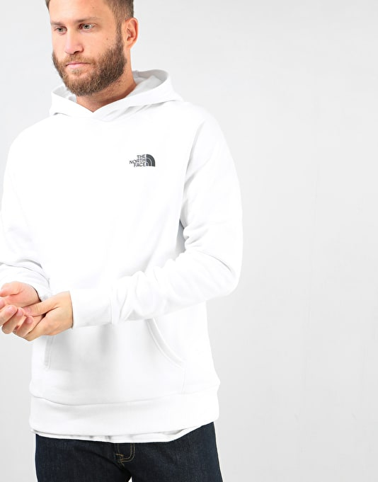 The North Face Raglan Red Box Pullover Hoodie - TNF White