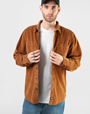 Dickies Long Sleeve Arthurdale Shirt - Brown Duck