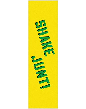 Shake Junt Sprayed Logo Grip Tape Sheet - Yellow/Green