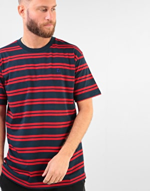 Route One Classic Stripe T-Shirt - Navy/Red
