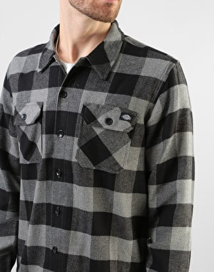 Dickies Long Sleeve Sacramento Shirt - Dark Grey Melange