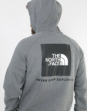 The North Face Raglan Red Box Pullover Hoodie - TNF Grey Heather