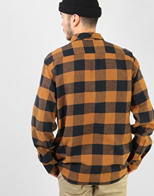 Dickies Long Sleeve Sacramento Shirt - Brown Duck