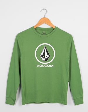 Volcom Crisp Stone LS Boys T-Shirt - Dark Kelly