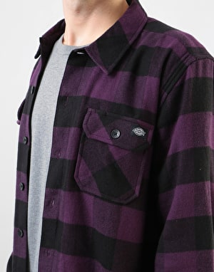 Dickies Long Sleeve Sacramento Shirt - Plum