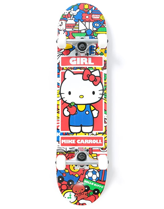 Girl x Hello Kitty Carroll Sanrio World Complete Skateboard - 7.75""