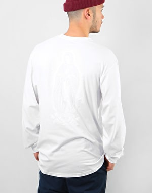 Santa Cruz Ghost Lady L/S T-Shirt - White