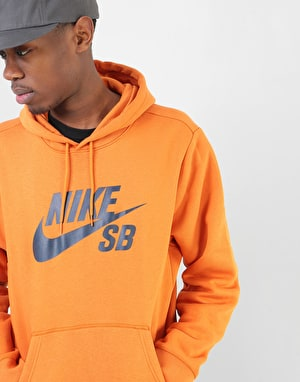 Nike SB Icon Essential Pullover Hoodie - Cinder Orange/Obsidian