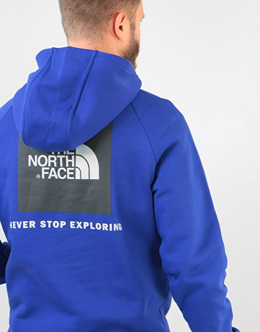 The North Face Raglan Red Box Pullover Hoodie - Lapis Blue