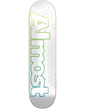 Almost Faded Outline Skateboard Deck - 7.75