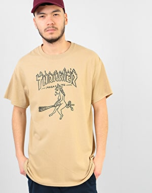 Thrasher Witch T-Shirt - Tan
