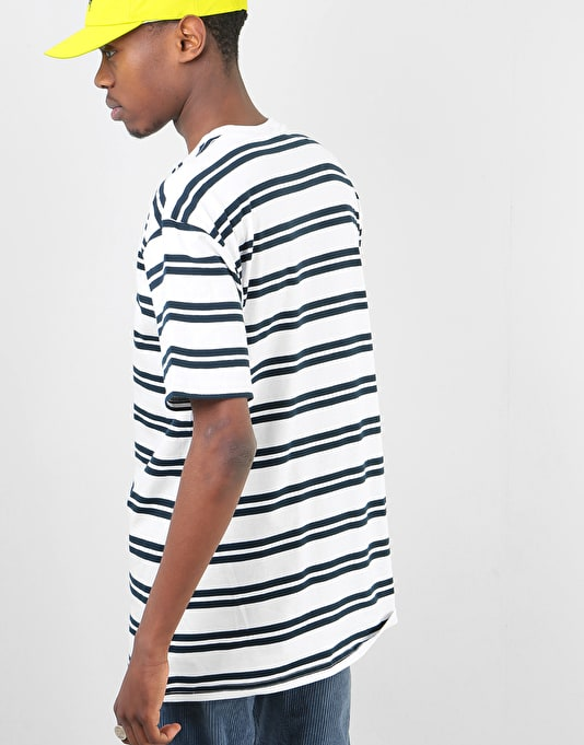 Route One Classic Stripe T-Shirt - White/ Navy