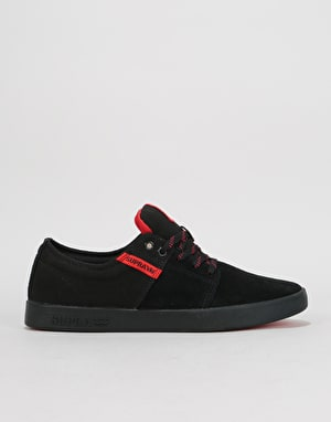 Supra Stacks II Skate Shoes - Black/Risk Red/Black