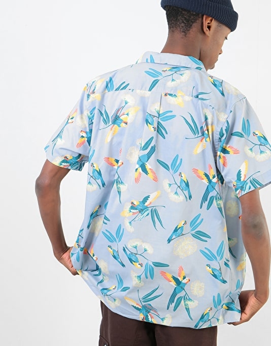 Patagonia Go To S/S Shirt - Parrots: Ghost Purple